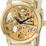 Akribos XXIV Women's AKR431YG Gold Swiss Automatic Skeleton Watch Review