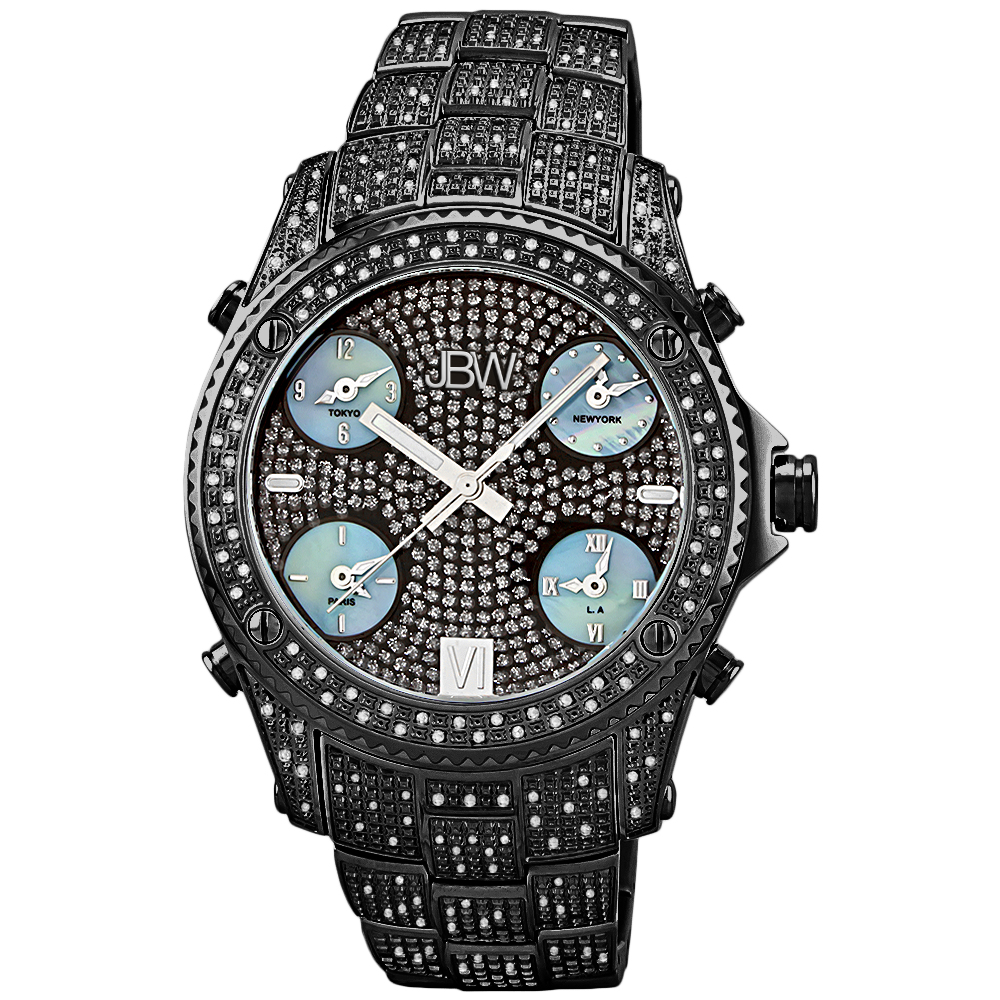 "JBW Men's JB-6213-B ""Jet Setter"" Black Ion Diamond Watch Review"